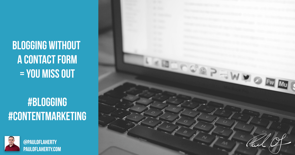 Blogging Without A Contact Form