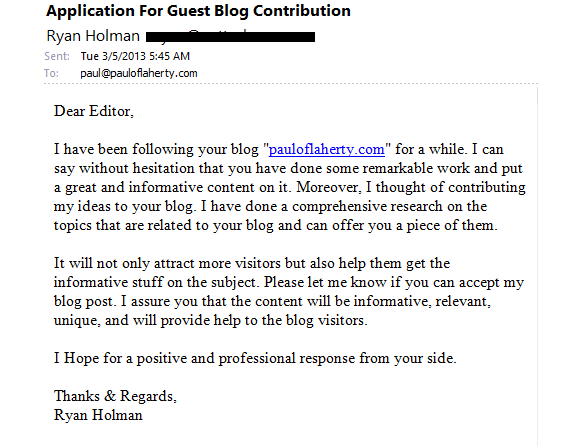 How Not To Apply To Guest Post