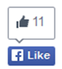 New Blue Facebook Like Button